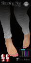 Shooting star Toe rings are original unrigged mesh and fit SLINK, Belleza and maitreya HIGH & Flat feet! Complete with texture hud to change individual toe set colours and resize by touch. EXCLUSIVE
